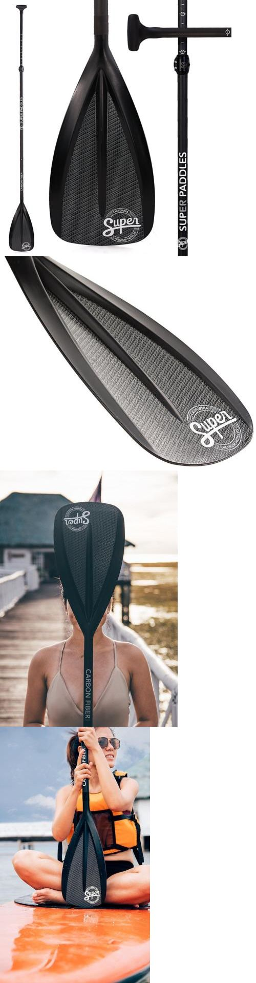 Deppen custom wood canoe paddles - Stand Up Paddles 177505 Carbon Fiber Sup Paddle 3 Piece Adjustable Stand Up