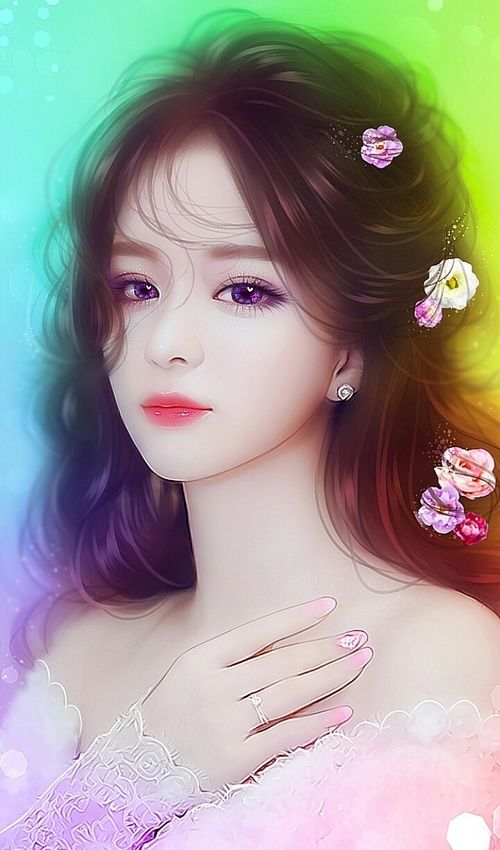 Beautiful Chinese Girl Painting Wallpaper Art Art Girl Background Beautiful Beautiful Girl