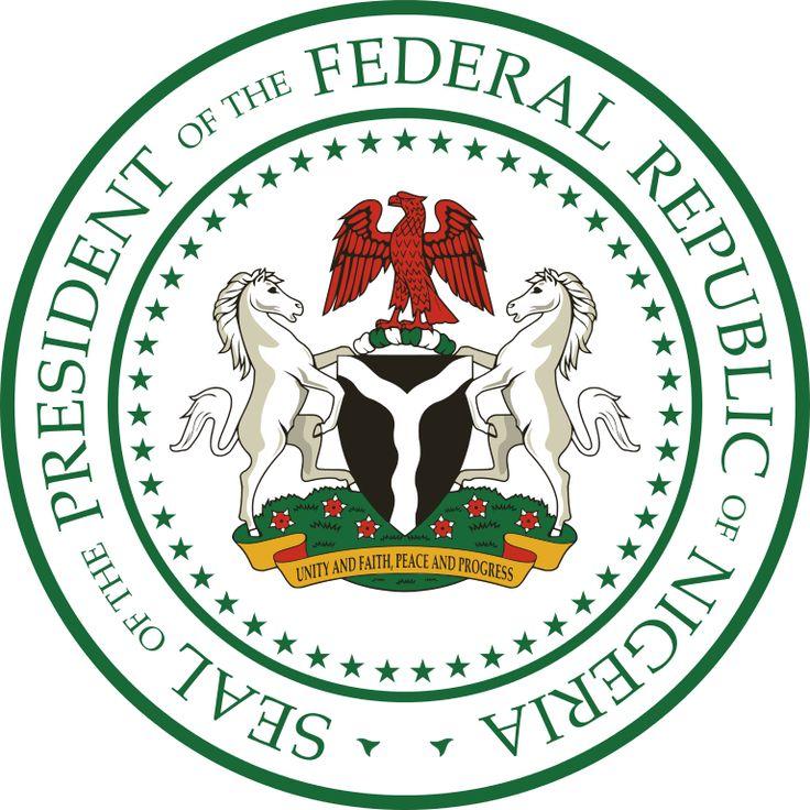 Brasão do Presidente da Nigéria. Seal of President of Nigeria.