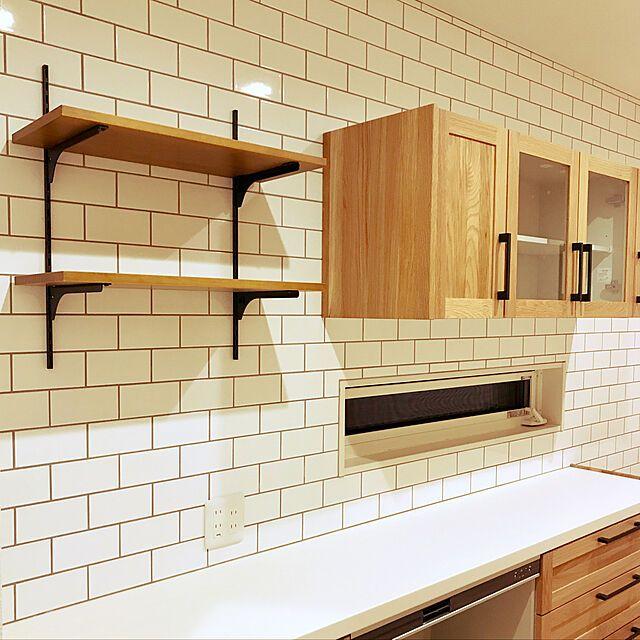 システム収納 ウッドワン 無垢の木の収納 壁付 フツウノブラケットプラン Fn 004 Woodoneのレビュー クチコミとして参考になる投稿5枚 Roomclip Item 2020 キッチン 飾り棚 キッチンデザイン