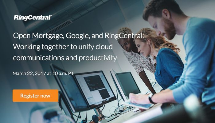Join us to learn how #Google and RingCentral work together to unify #cloud #communications and #productivity for Open Mortgage, LLC. Click to #register for our upcoming #webinar today // #Business #UCaaS #CloudComputing #Technology