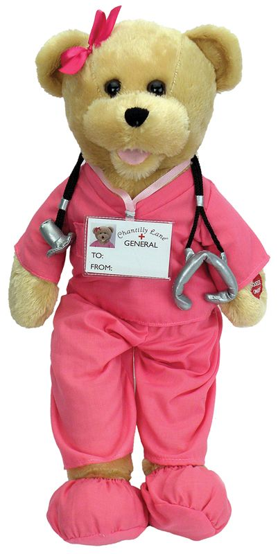 Chantilly nurse scrubs bear