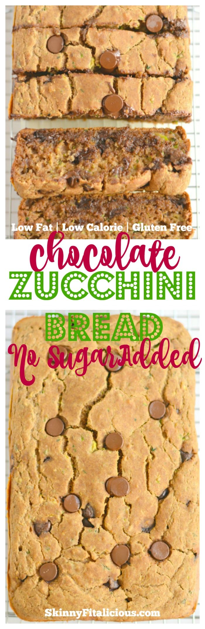 Low Fat Chocolate Zucchini Bread made with no added sugar or oil. A lighter and healthier zucchini bread that's most, creamy, incredibly addicting and guaranteed delicious! Use pumpkin instead of applesauce and need oat flour.