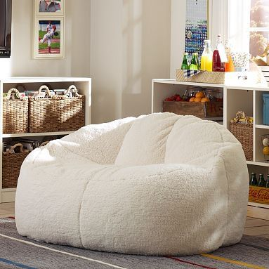 Ivory Sherpa Cloud Couch Always Wanted A Bean Bag Chair But Never Went With Decor Well Now This Would Fit Perfect And Keep The Charm Of Room