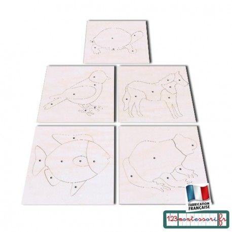 Zoologie 5 puzzle Montessori d'animaux