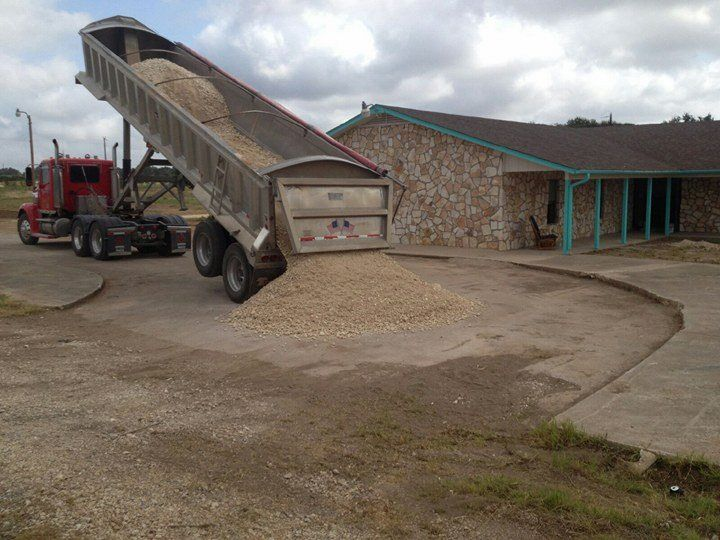 Gravel delivery for a new Parking lot in Austin Texas | RS Asphalt Paving Company