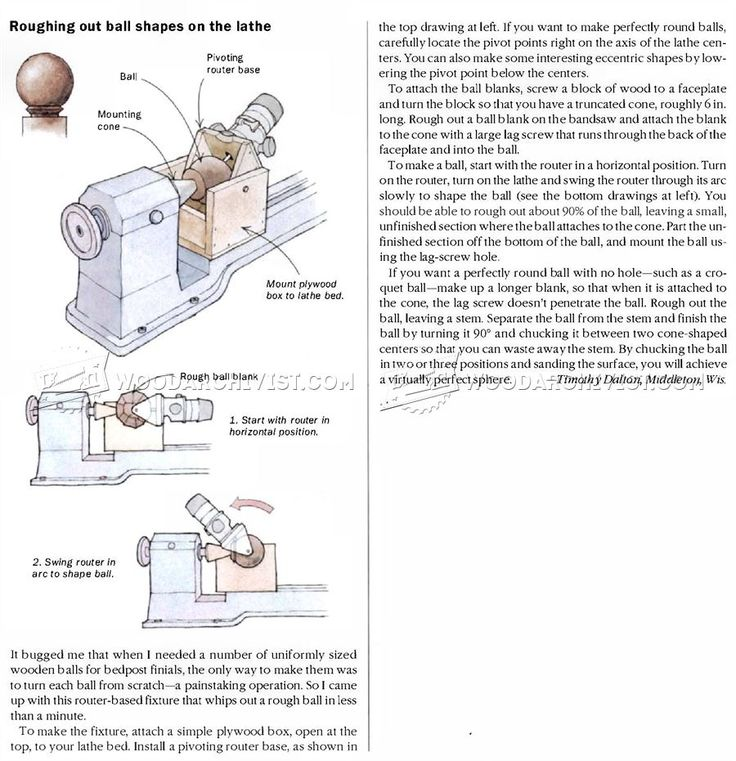 Routing Ball Shape on Lathe - Woodturning Projects and Techniques | WoodArchivist.com