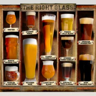 What's the right glass shape for beer? Depends on the beer! @CraftBeerdotcom has a great set of pages dedicated to discussing beer glassware.