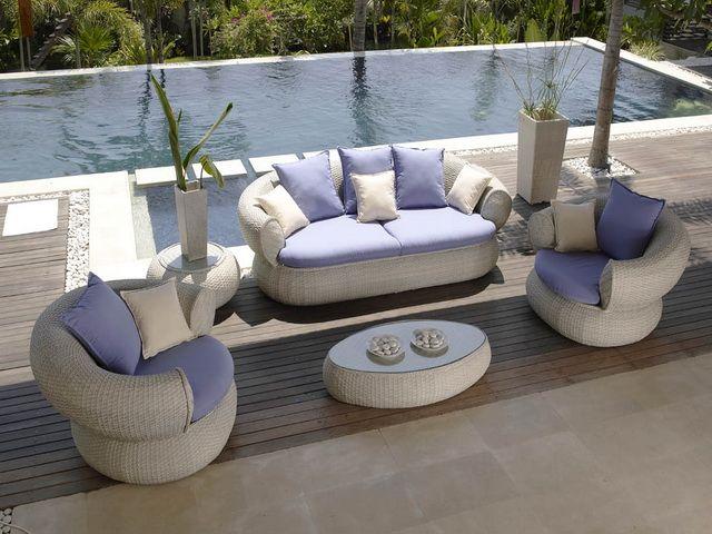 Muebles rattan jardin set de exterior moderno miami - Sofa exterior carrefour ...