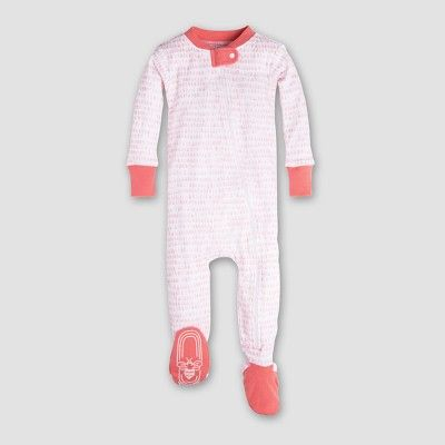 9d3205696 Burt's Bees Baby Girls' Organic Cotton Dew Drop Sleeper - Coral 3-6M :  Target