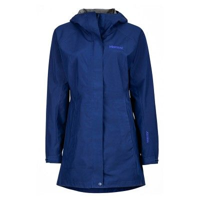 The women's Essential Jacket from Marmot is a long cut, lightweight shell that's designed predominantly as a rain jacket, but with enough technical features to withstand some aerobic activity through nasty weather. Gore-Tex fabric offers tremendous waterproofing, ensuring you'll stay dry even in a down pour. The jacket also is 100% seam taped and has pit zips for when activity levels ramp up, or just for those warmer rainy days.