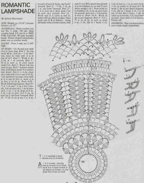 MATIN LUMINEUX: Abat-jour crochet: part 2