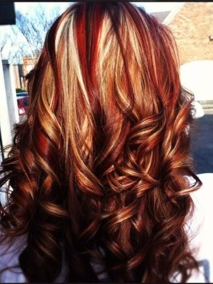 Red low lights | Hair | Pinterest | Brown hair colors ...