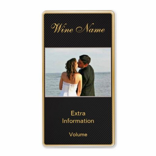 Classic Gold Black Wine Label With Kisses