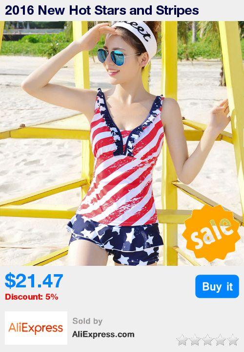 2016 New Hot Stars and Stripes American Flag Tankini Swimsuit Women's Modern Push Up Padded Beach Swimwear Bathing Suit * Pub Date: 04:02 Sep 13 2017