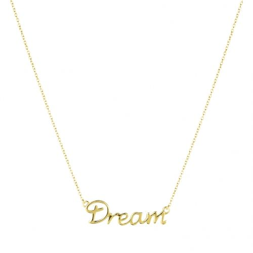 Dream necklace in gold plated silver.