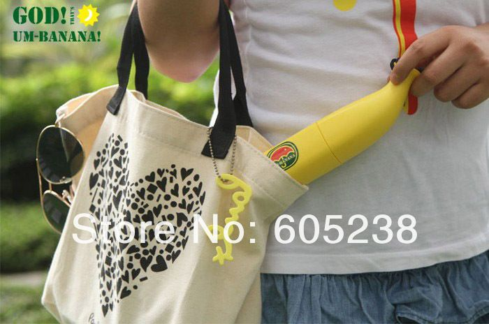 Бесплатная Доставка 6 Шт Банан Зонт Ум-банан (Желтый/Зеленый) Новинка Зонтик