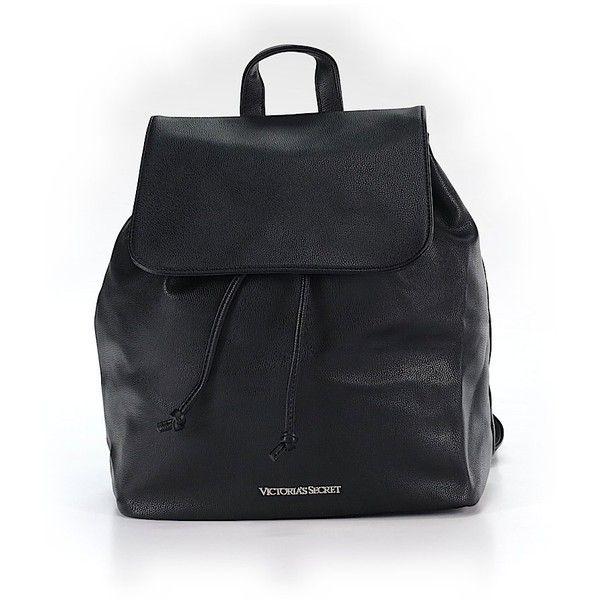 Victoria's Secret Backpack ($45) ❤ liked on Polyvore featuring bags, backpacks, black, victoria's secret, knapsack bag, victoria secret bags, backpack bags and rucksack bags