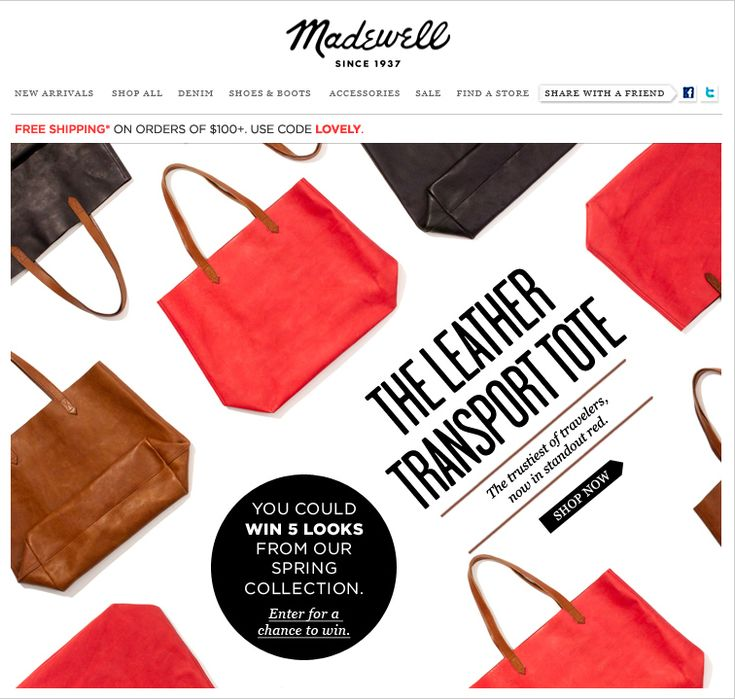 Nice layout from Madewell.