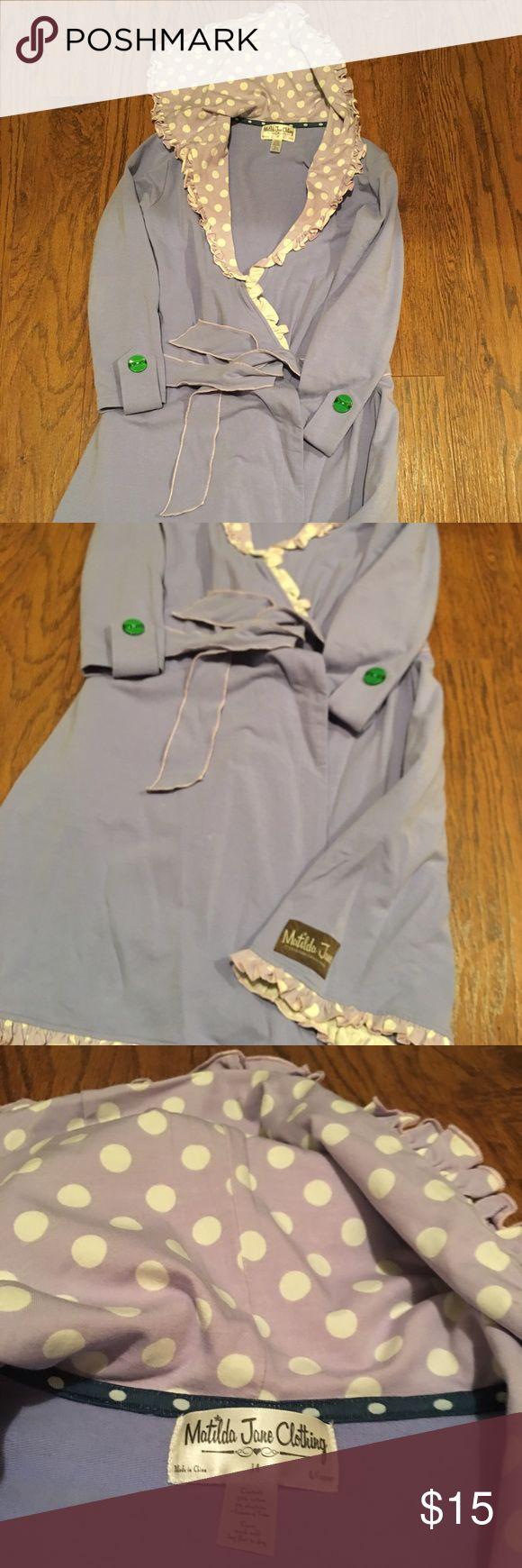 Matilda Jane Jacket Matilda Jane wrap jacket with tie belt. Lavender in color Matilda Jane Jackets & Coats