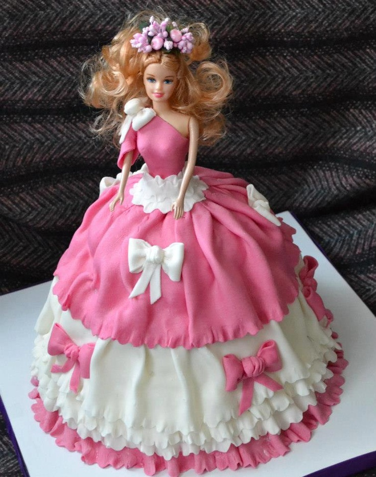 Best Doll Cakes  Images On Pinterest Barbie Cake Doll - Birthday cake doll designs