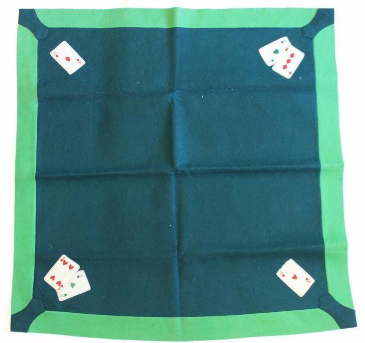 Bridge Playing Card Table Green Felt Cover Bridge Playing Cards Felt Cover Table Cards