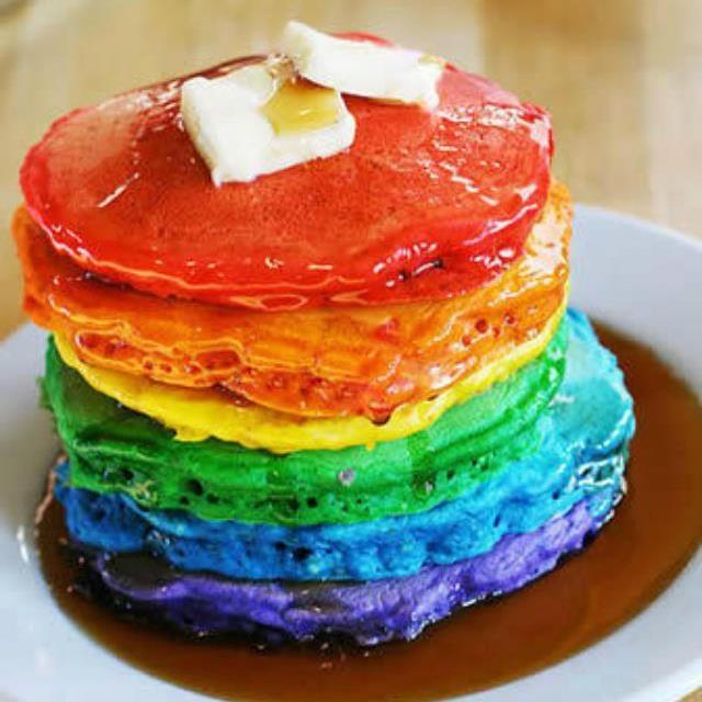 rainbow pancakes - Eetbare regenbogen | Pinterest - Regenboog ...