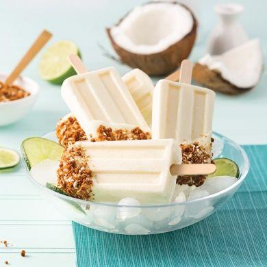 Popsicle croquant à la noix de coco - Desserts - Recettes 5-15 - Recettes express 5/15 - Pratico Pratique