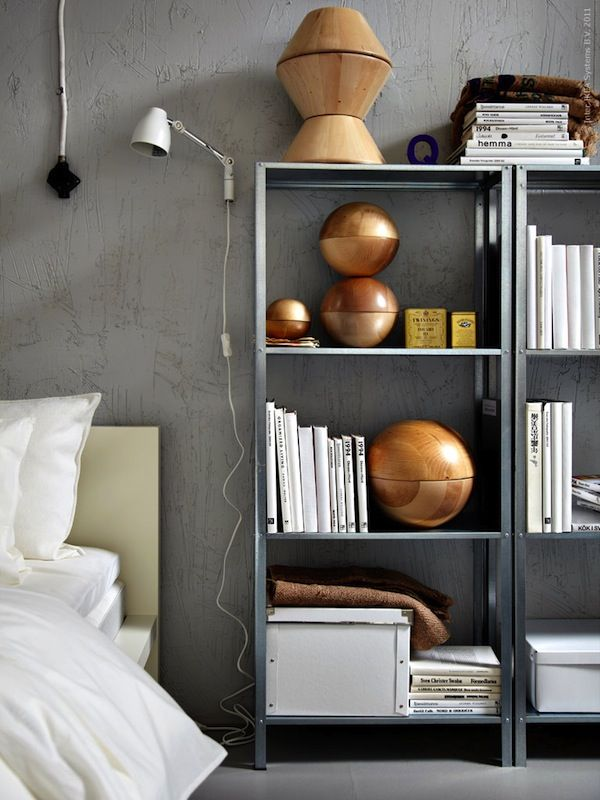 I Love The Idea Of Using Metal Garage Shelving Units In Living Room Or Bedroom