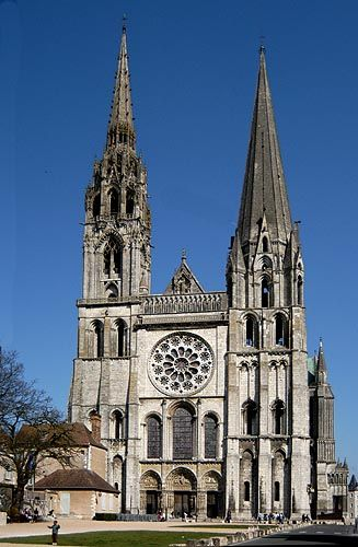 Cathedral of Our Lady of Chartres (French: Cathédrale Notre-Dame de Chartres), is a medieval Roman Catholic cathedral best known as the finest example of French Gothic architecture.