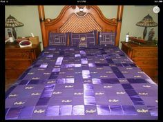 Crown Royal Quilt and Purple  by Misteria0 on Etsy, $375.00