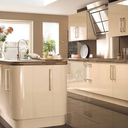 modern cream kitchen cabinets 17 best images about gloss kitchens on 23492