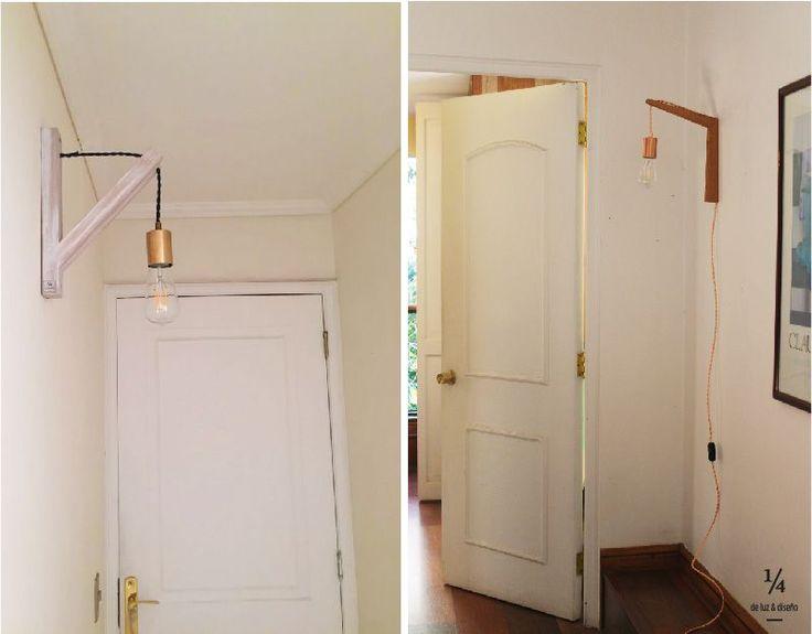 Mira cómo nuestros clientes iluminan sus pasillos con estos lindos apliques! 😍😍 Aprovecha tú también y llevate el tuyo. Escríbenos a info@uncuarto.cl y arma el tuyo a tu pinta 😉😉