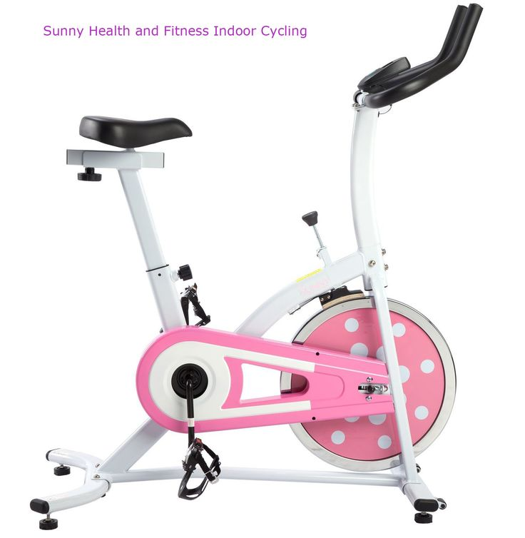 f7bba0355811 Sunny Health and Fitness Indoor Cycling Bike (Pink) Sunny Health   Fitness