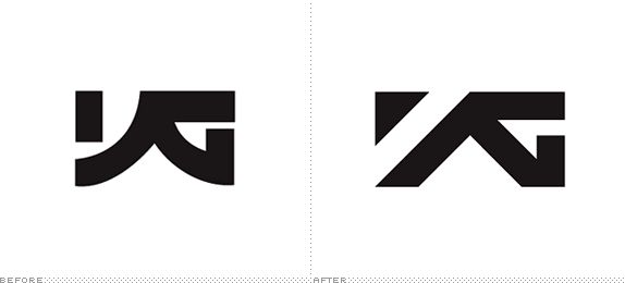 really neat redesign of YG, korean record label | via Brand New