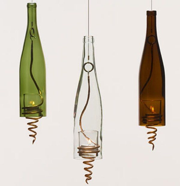 Booze it up 13 rad recycled bottle crafts projects for Wine bottle material