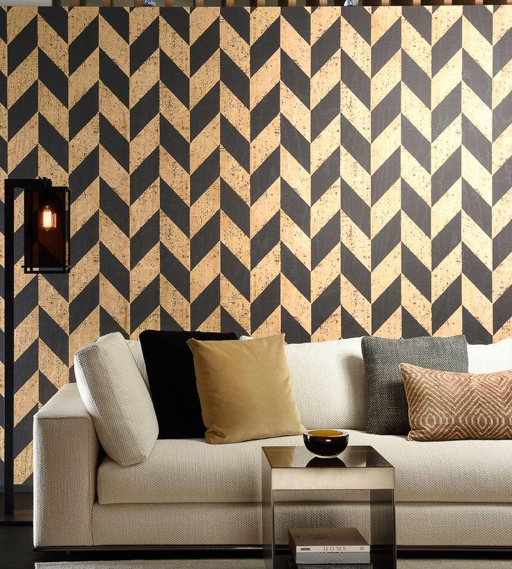 Contemporary Geometrics | Triangle Wallpaper by Arte | Jane Clayton