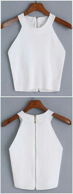 Resultado de imagen para Vertical Striped Wrap White Shirt