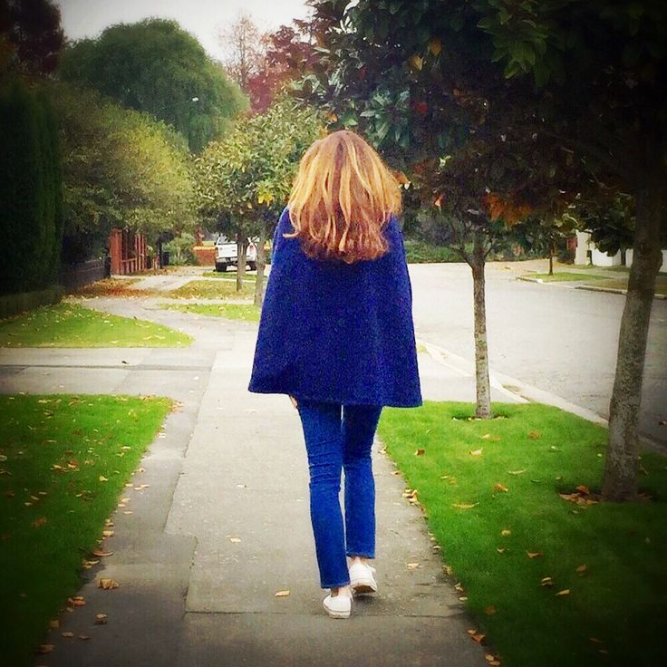 Blue wool cape locally made on Christchurch