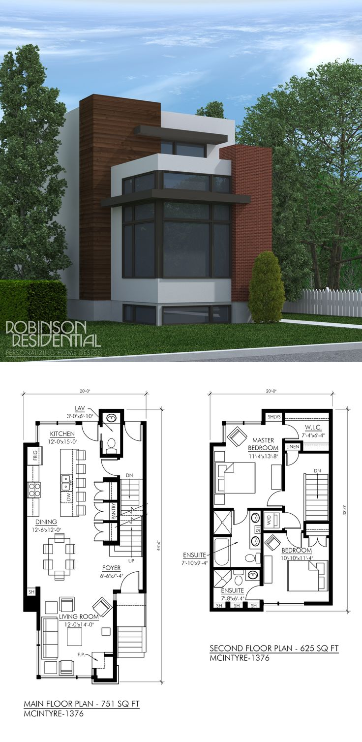 Two storey building architectural drawing complete example for Contemporary open floor plans