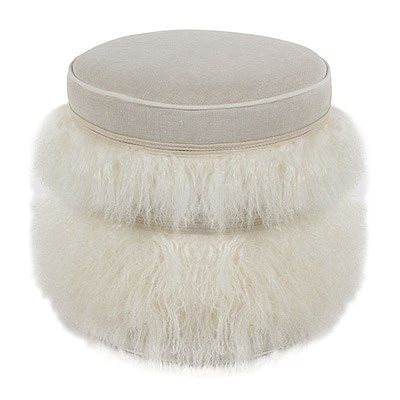 V Rugs Amp Home Cecil White Pouf Laylagrayce New