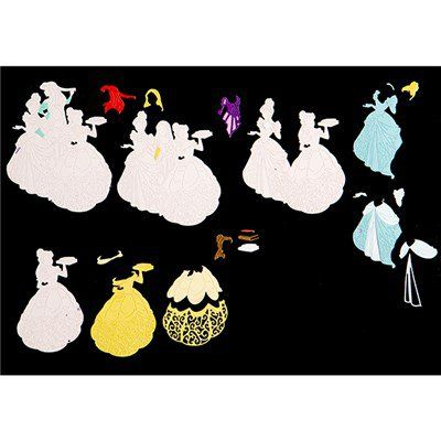 Disney Princess Group Die and Face Stamps Limited Edition (384520) | Create and Craft