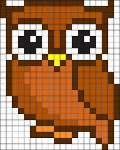 Owl Perler Perler Bead Pattern / Bead Sprite