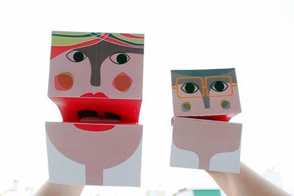 Final monster hand puppets closeup