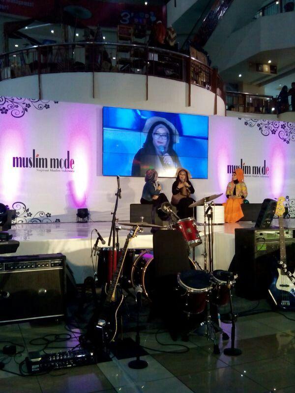 Sharing di pembukaan Muslim Mode Store Thamrin City 2014
