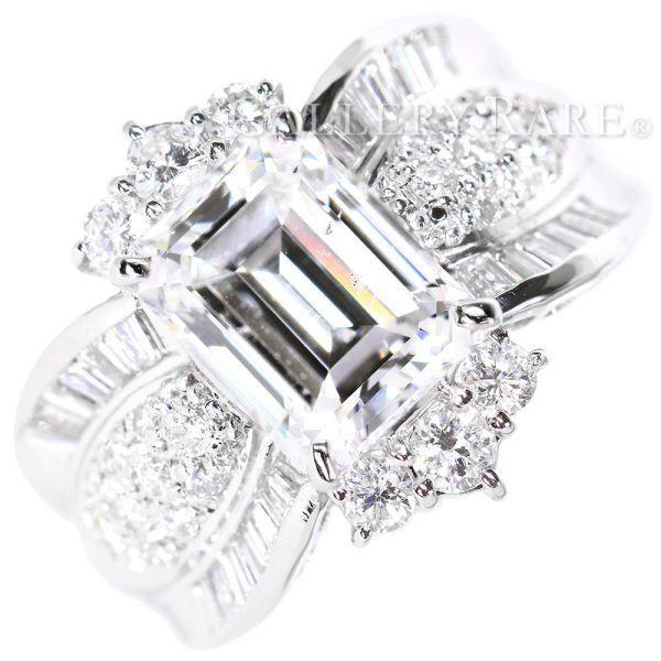 ダイヤモンド リング ダイヤモンド 3.21ct 1.07ct プラチナ900 Pt900 ジュエリー 指輪 リングサイズ約13号 メレダイヤ テーパーダイヤ