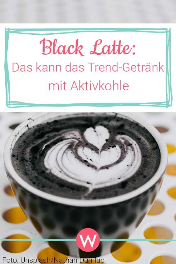 "Black Latte: So good is ""coffee"" with activated charcoal for your body   – Gesunde Ernährung"