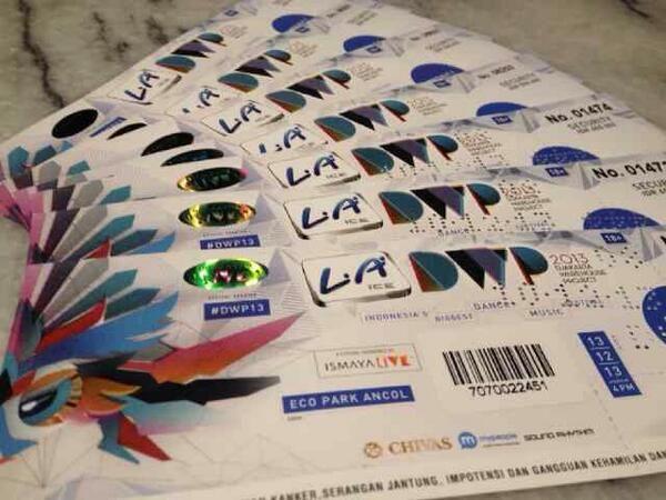 Wow Keren...Tiket #DWP13
