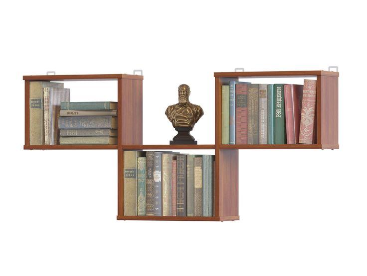 Настенные полки - несколько креативных идей оформления стен, идеи для выбора полок над диваном, под телевизор и для цветов. Дизайнерские настенные полки фото
