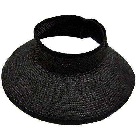 74929671fe98b Women s Summer Wide Brim Roll-Up Straw Sun Visor Hat